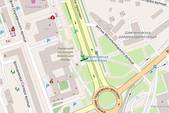 IDMedia Арендовать и разместить Остановку в городе Львов (Львовская область) №206540 схема