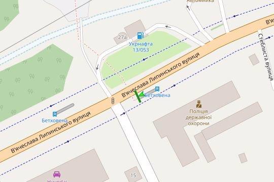 IDMedia Наружная реклама в городе Львов (Львовская область), Остановку в городе Львов №206573 схема