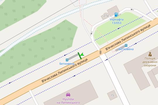 IDMedia Арендовать и разместить Остановку в городе Львов (Львовская область) №206576 схема