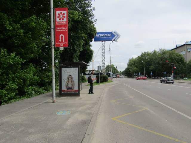 Остановка №206577 в городе Львов (Львовская область), размещение наружной рекламы, IDMedia-аренда по самым низким ценам!