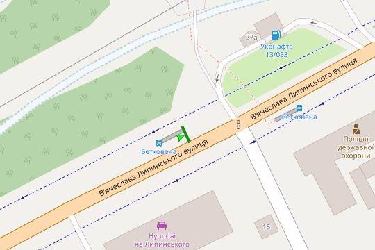 IDMedia Арендовать и разместить Остановку в городе Львов (Львовская область) №206577 схема