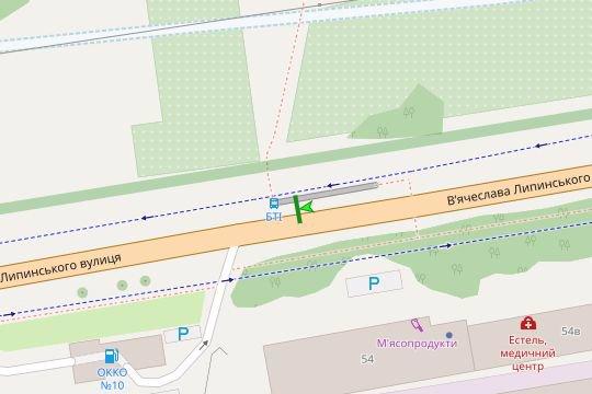 IDMedia Арендовать и разместить Остановку в городе Львов (Львовская область) №206578 схема