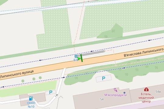 IDMedia Арендовать и разместить Остановку в городе Львов (Львовская область) №206579 схема