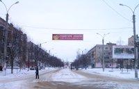 Растяжка №213452 в городе Шостка (Сумская область), размещение наружной рекламы, IDMedia-аренда по самым низким ценам!