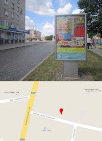 Ситилайт №214566 в городе Владимир-Волынский (Волынская область), размещение наружной рекламы, IDMedia-аренда по самым низким ценам!