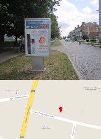 Ситилайт №214567 в городе Владимир-Волынский (Волынская область), размещение наружной рекламы, IDMedia-аренда по самым низким ценам!