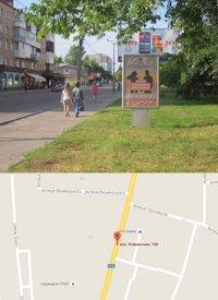 Ситилайт №214568 в городе Владимир-Волынский (Волынская область), размещение наружной рекламы, IDMedia-аренда по самым низким ценам!