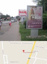 Ситилайт №214578 в городе Владимир-Волынский (Волынская область), размещение наружной рекламы, IDMedia-аренда по самым низким ценам!