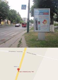 Ситилайт №214588 в городе Владимир-Волынский (Волынская область), размещение наружной рекламы, IDMedia-аренда по самым низким ценам!