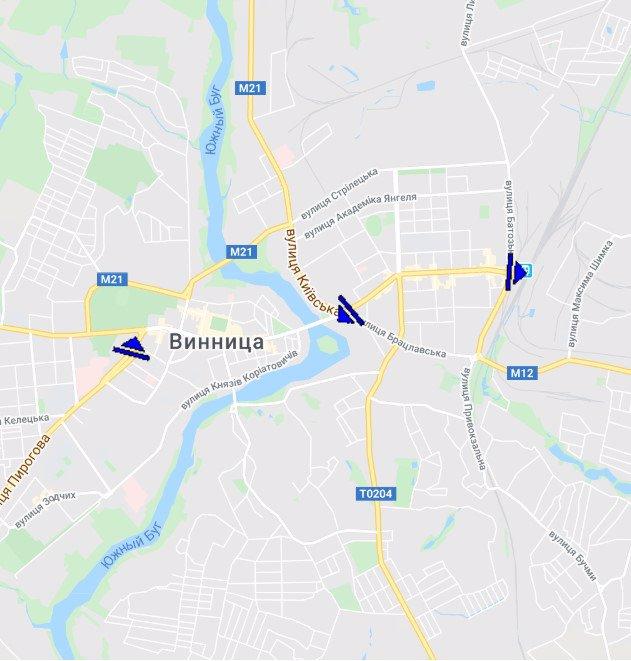 IDMedia Арендовать и разместить Экран в городе Винница (Винницкая область) №215364 схема