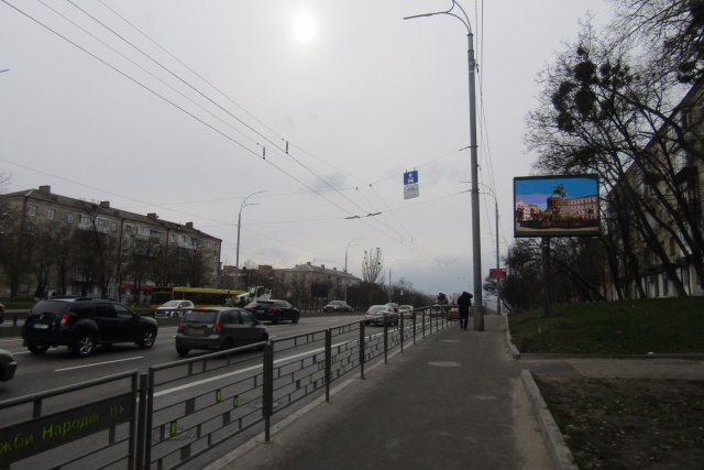 Экран №218282 в городе Киев (Киевская область), размещение наружной рекламы, IDMedia-аренда по самым низким ценам!