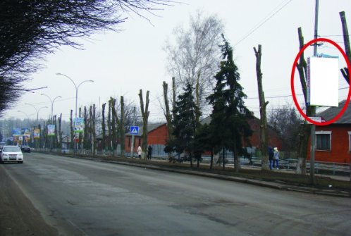 Холдер №218856 в городе Покровск(Красноармейск) (Донецкая область), размещение наружной рекламы, IDMedia-аренда по самым низким ценам!
