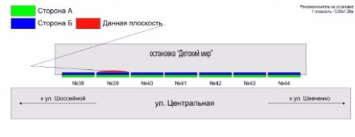 IDMedia Арендовать и разместить Остановку в городе Покровск(Красноармейск) (Донецкая область) №218883 схема