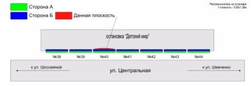 IDMedia Арендовать и разместить Остановку в городе Покровск(Красноармейск) (Донецкая область) №218885 схема