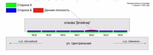IDMedia Арендовать и разместить Остановку в городе Покровск(Красноармейск) (Донецкая область) №218889 схема