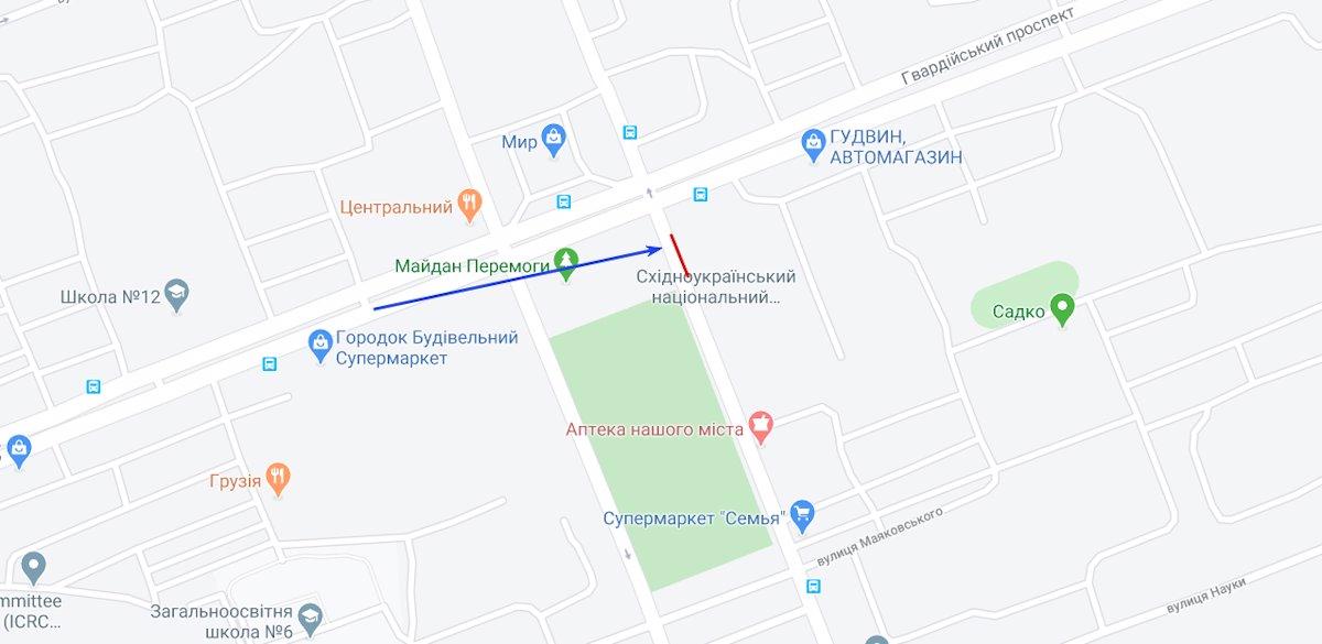 IDMedia Арендовать и разместить Экран в городе Северодонецк (Луганская область) №220800 схема