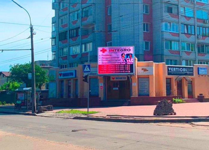 Экран №220819 в городе Черкассы (Черкасская область), размещение наружной рекламы, IDMedia-аренда по самым низким ценам!