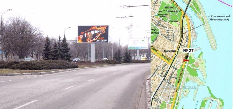 Бэклайт №220833 в городе Днепр (Днепропетровская область), размещение наружной рекламы, IDMedia-аренда по самым низким ценам!