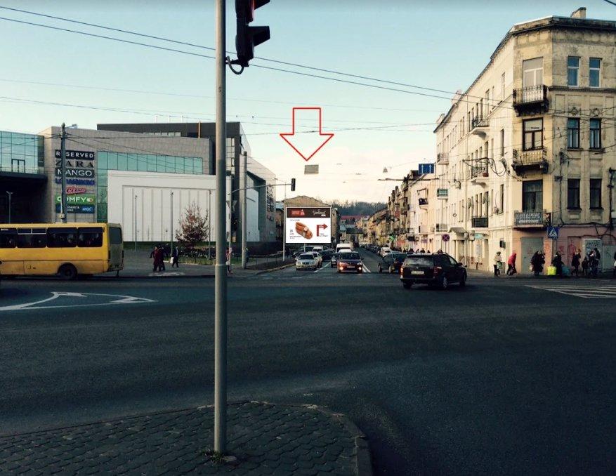 Брандмауэр №220847 в городе Львов (Львовская область), размещение наружной рекламы, IDMedia-аренда по самым низким ценам!