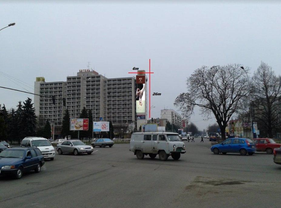 Брандмауэр №220857 в городе Ужгород (Закарпатская область), размещение наружной рекламы, IDMedia-аренда по самым низким ценам!