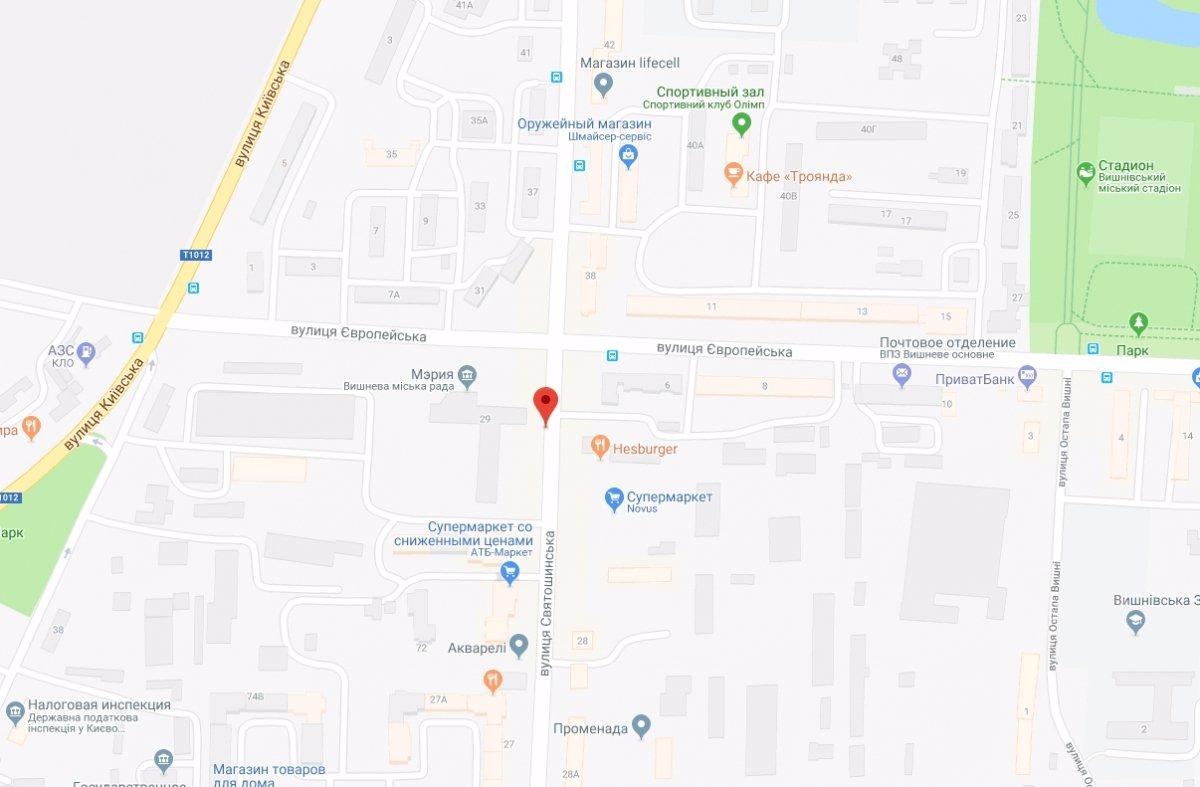 IDMedia Арендовать и разместить Ситилайт в городе Вишневое (Киевская область) №221039 схема