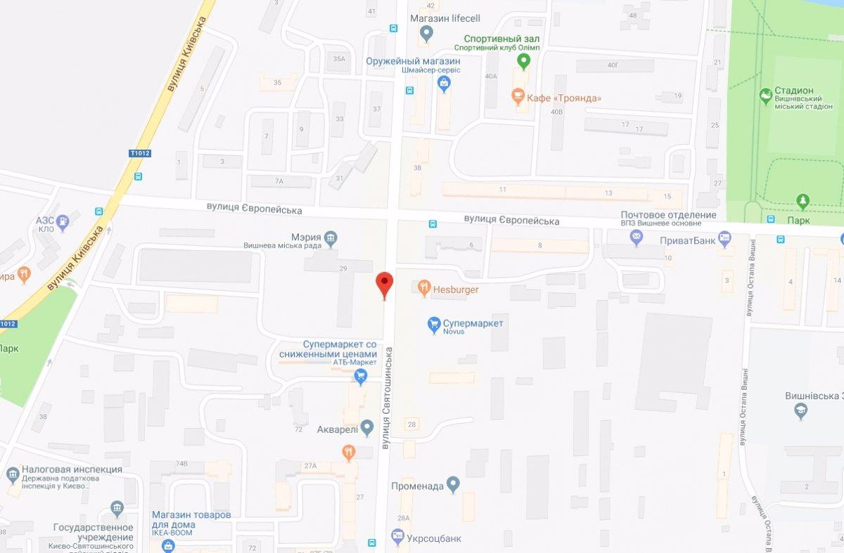IDMedia Арендовать и разместить Ситилайт в городе Вишневое (Киевская область) №221040 схема