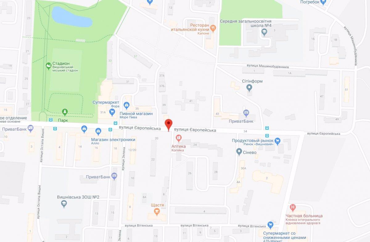 IDMedia Арендовать и разместить Ситилайт в городе Вишневое (Киевская область) №221056 схема