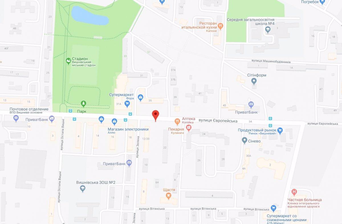 IDMedia Арендовать и разместить Ситилайт в городе Вишневое (Киевская область) №221058 схема
