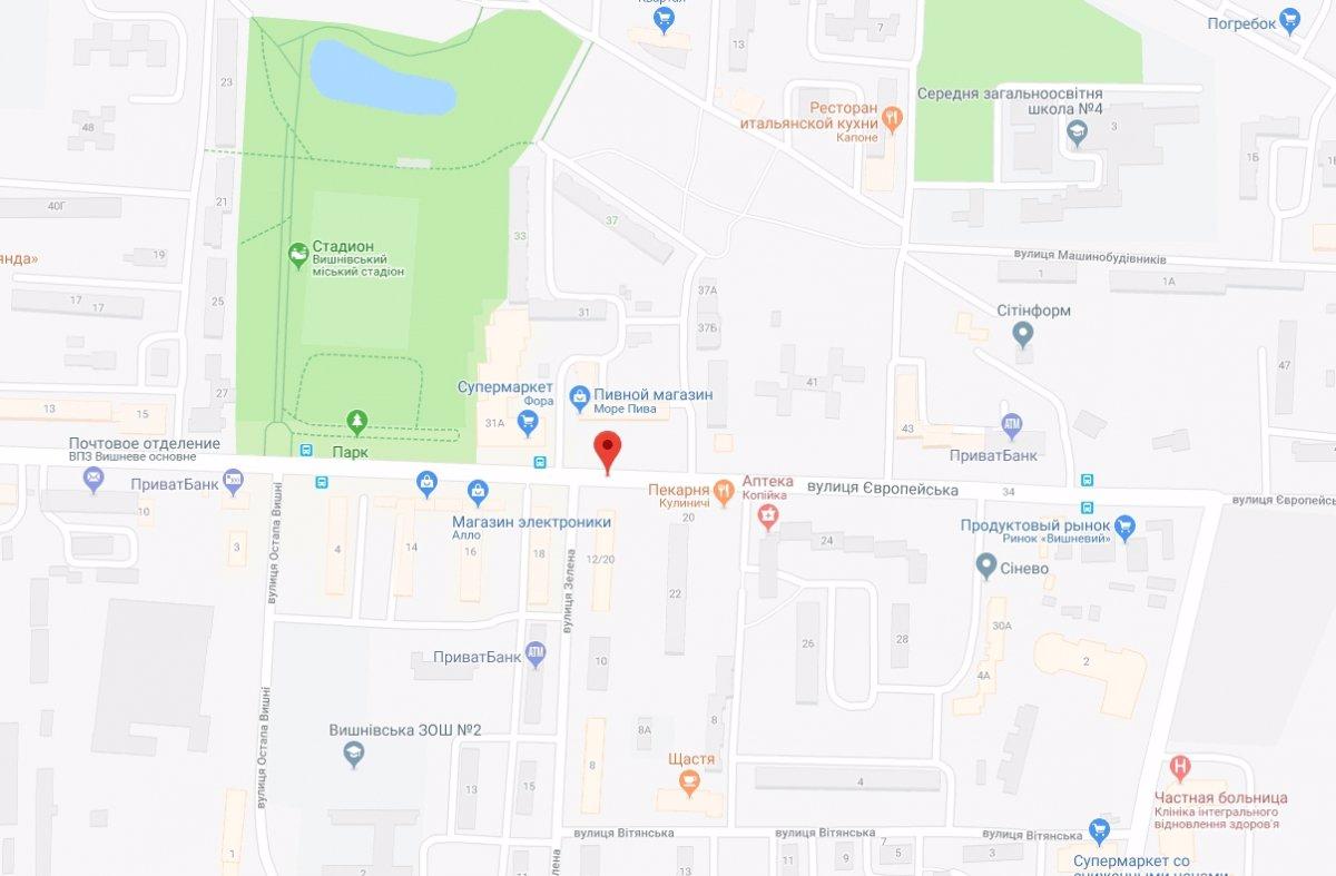 IDMedia Арендовать и разместить Ситилайт в городе Вишневое (Киевская область) №221061 схема