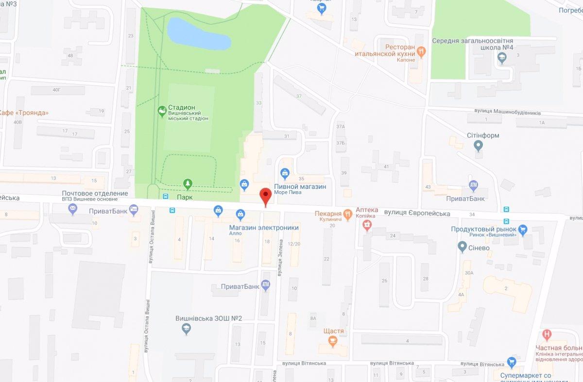 IDMedia Арендовать и разместить Ситилайт в городе Вишневое (Киевская область) №221062 схема
