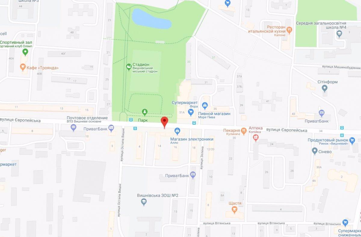 IDMedia Арендовать и разместить Ситилайт в городе Вишневое (Киевская область) №221065 схема