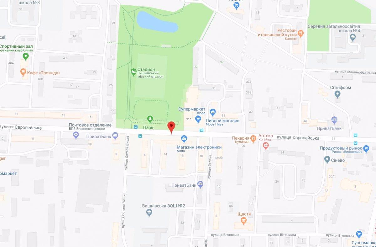 IDMedia Арендовать и разместить Ситилайт в городе Вишневое (Киевская область) №221066 схема