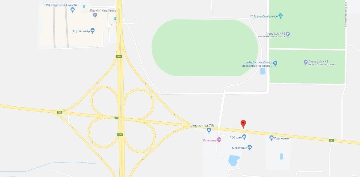 IDMedia Арендовать и разместить Арку в городе Львов (Львовская область) №221746 схема