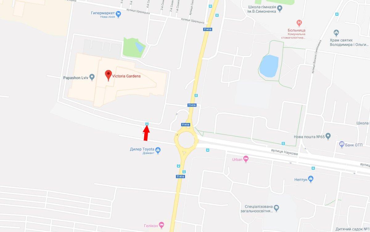 IDMedia Арендовать и разместить Ситилайт в городе Львов (Львовская область) №221792 схема