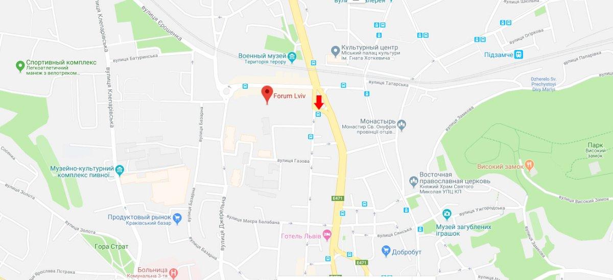 IDMedia Арендовать и разместить Остановку в городе Львов (Львовская область) №221808 схема