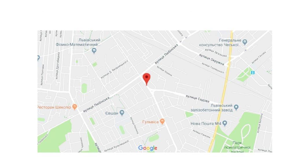 IDMedia Арендовать и разместить Остановку в городе Львов (Львовская область) №221848 схема