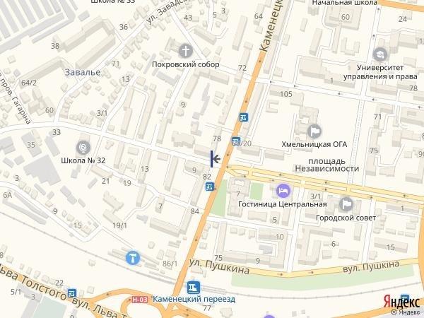 IDMedia Арендовать и разместить Ситилайт в городе Хмельницкий (Хмельницкая область) №222057 схема