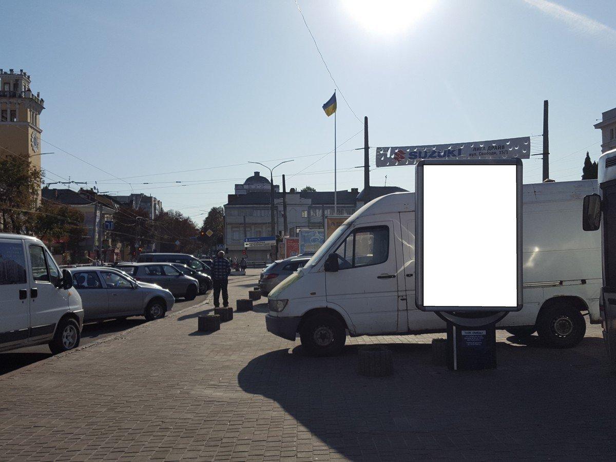 Ситилайт №222062 в городе Хмельницкий (Хмельницкая область), размещение наружной рекламы, IDMedia-аренда по самым низким ценам!