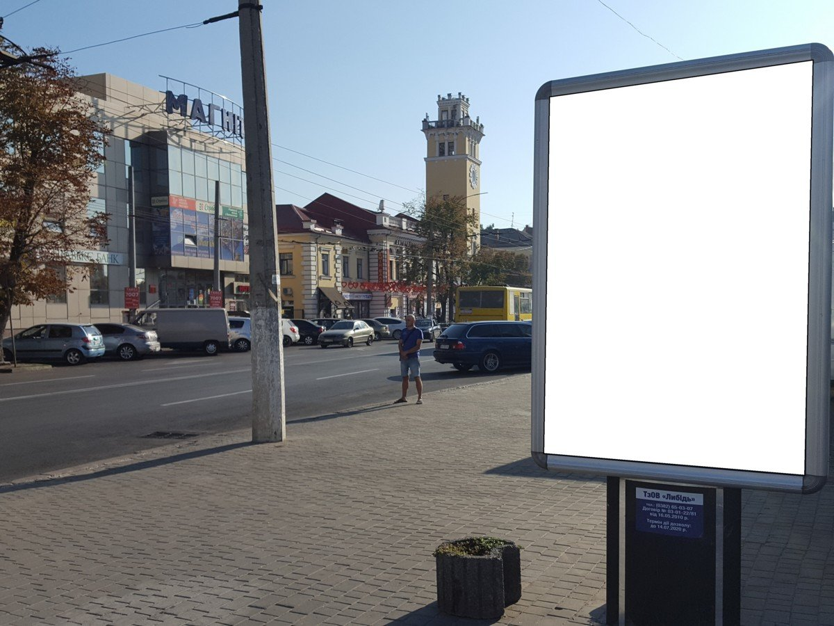 Ситилайт №222101 в городе Хмельницкий (Хмельницкая область), размещение наружной рекламы, IDMedia-аренда по самым низким ценам!