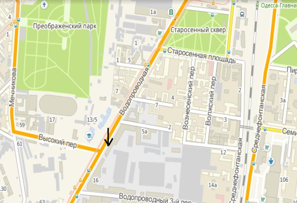 IDMedia Арендовать и разместить Билборд в городе Одесса (Одесская область) №222129 схема