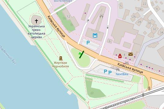IDMedia Арендовать и разместить Билборд в городе Винница (Винницкая область) №222134 схема