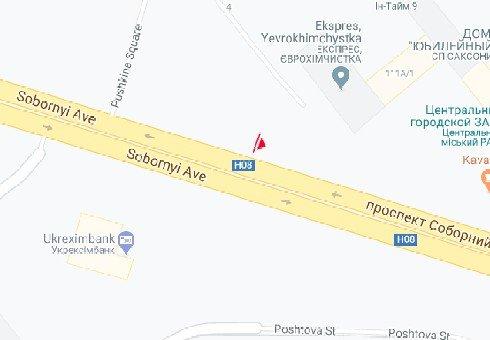 IDMedia Арендовать и разместить Билборд в городе Запорожье (Запорожская область) №222141 схема