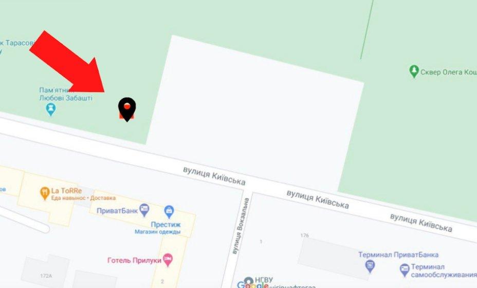 IDMedia Арендовать и разместить Экран в городе Прилуки (Черниговская область) №223846 схема