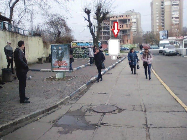 Ситилайт №224990 в городе Львов (Львовская область), размещение наружной рекламы, IDMedia-аренда по самым низким ценам!