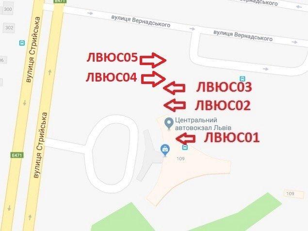 IDMedia Арендовать и разместить Ситилайт в городе Львов (Львовская область) №224990 схема