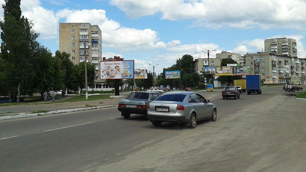 Билборд №225053 в городе Шостка (Сумская область), размещение наружной рекламы, IDMedia-аренда по самым низким ценам!