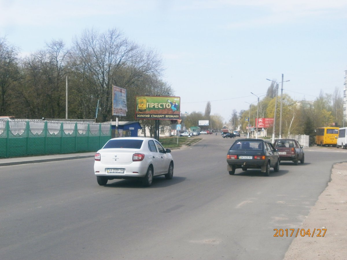 Билборд №225057 в городе Шостка (Сумская область), размещение наружной рекламы, IDMedia-аренда по самым низким ценам!