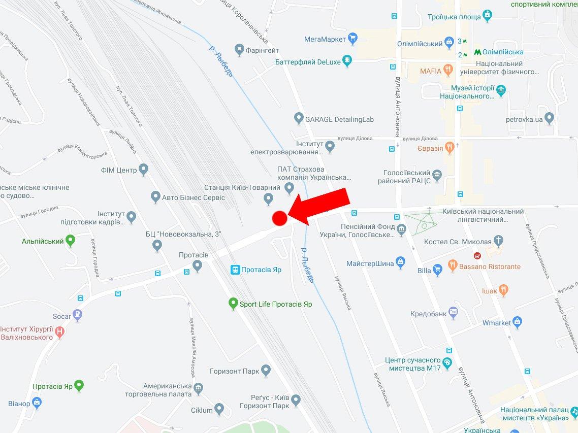 IDMedia Наружная реклама в городе Киев (Киевская область), Экран в городе Киев №225087 схема