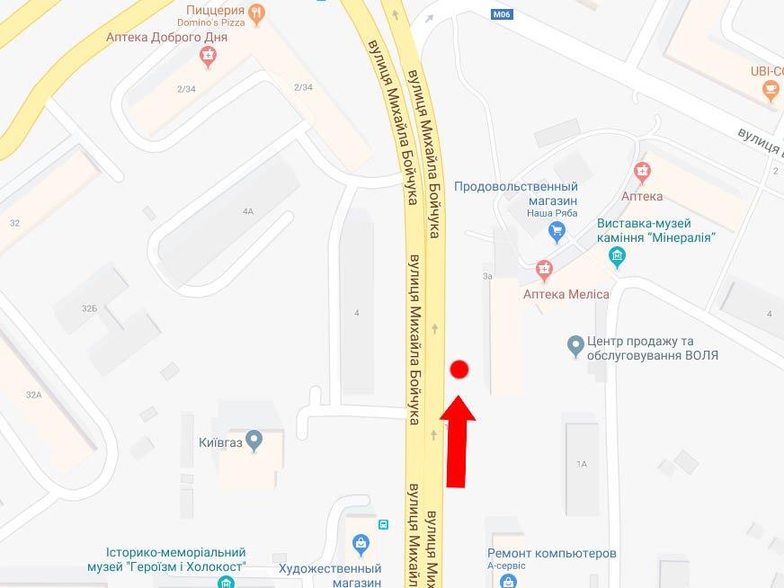 IDMedia Наружная реклама в городе Киев (Киевская область), Экран в городе Киев №225088 схема
