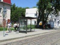 Остановка №225768 в городе Львов (Львовская область), размещение наружной рекламы, IDMedia-аренда по самым низким ценам!